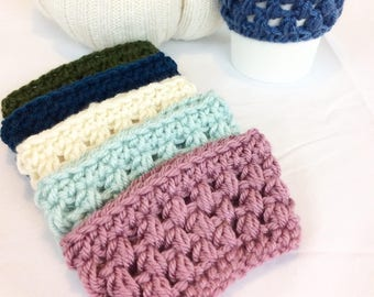 Kaffee gemütlich Crochet Kaffee gemütlich Tee gemütlich, Kaffee-Geschenke für sie, häkeln, gemütlich, wählen Sie Ihre Farbe