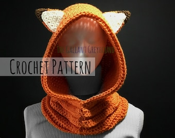 Fox Cowl for Adults Crochet Pattern (PATTERN ONLY)