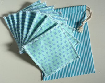 Wipes washable cotton and jersey