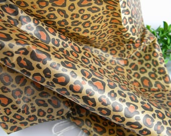 "12 Tissue Paper Sheets - Leopard Spots Wild Animal Print - 20"" by 30"" - Gift Wrapping Tissue Paper Unique Gift Wrap - Pattern Print Tissue"
