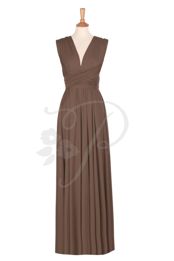 Brautjungfer Kleid Russet Brown Maxi bodenlang Infinity Kleid