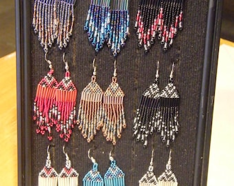 Lungi Zulu Fair Trade Beaded Medium Size Teardrop Earrings