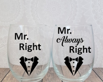 Two Grooms, Groom and Groom, Gay Wedding, Gay Pride, Gay Wine Glass, Gay Wine, Two Grooms are Better, Two Men, Gay Wedding Gift, Gay Shower