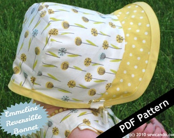 Sew Can Do Reversible Emmeline Bonnet PDF Pattern