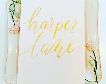Calligraphy Custom Name/Quote in Gold