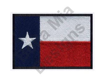 Flag - Machine Embroidery Design, Texas Flag