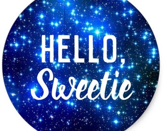 Hello, Sweetie Doctor Who Large Sticker