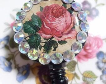 Vintage Floral ID Badge Holder