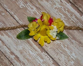 Newborn Tieback Headband Spring has Sprung