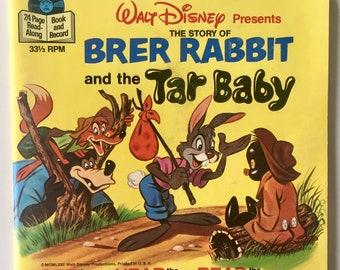Brer Rabbit and the Tar Baby 7' Vinyl Record / 24 Page Book, Disneyland - 363, Children's Music, Soundtrack, 1977, Original Pressing