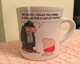 ZIGGY mug, Coffee, Tea, Cocoa, American Greetings, collector, 1983, Tom Wilson, Say buddy?