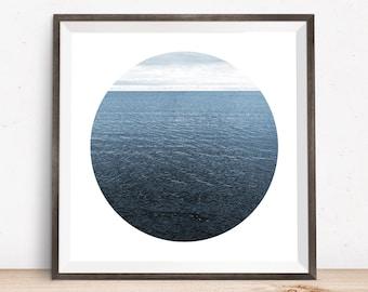 Lake Ontario, giclee print, art photography, large giclee prints, contemporary art, abstract art prints, beach photography, circle artwork