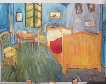 Replica Van Gogh 'Bedroom At Arles' by John Davis.