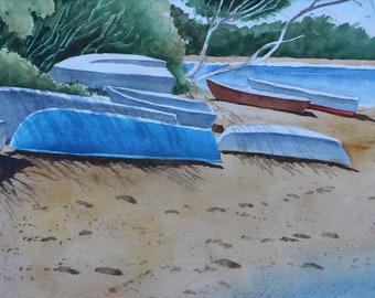 Beached Boats - Cape Cod, Mass