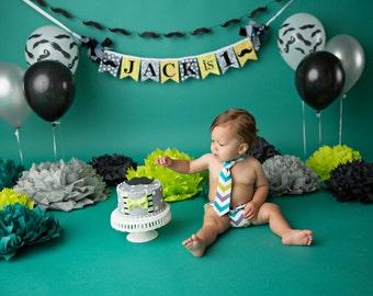 First Birthday Banner , Baby Shower Banner , Little Man Baby Shower Banner , Little Man Birthday Banner , High Chair Banner , Baby boy gift
