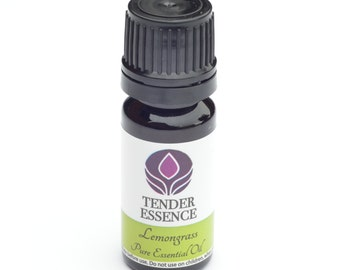Lemongrass Essential Oil. Aromatherapy 10ml Bottle.
