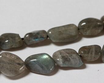 Labradorite Gemstone Nuggets -  Full Strand