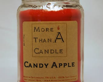 16 oz Candy Apple Soy Candle