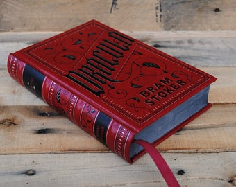 Hollow Book Safe - Dracula - Red Leather Bound