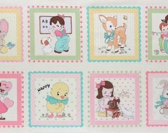 Lecien Old New 30s Spring 2015 Reproduction Panel - cotton panel - 1 Panel