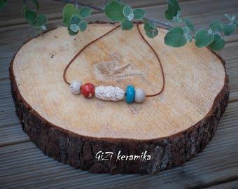 Ceramic handmade necklace