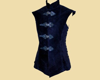 Long Leather Doublet for men