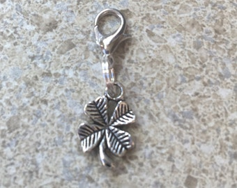Shamrock lucky charm...free shipping!  This charm is ready to add to your bracelet!
