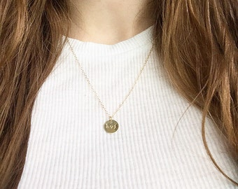 Minimalistic necklace with initials | Personalised up to three letters | 14k gold filled & sterling silver