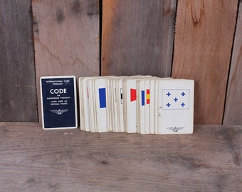 Vintage Deck of Navy and International Code Flagman Cards