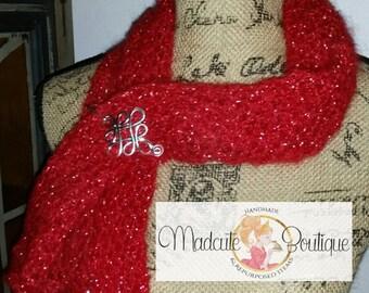 Red glitter scarfette