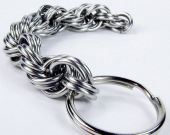 Chainmaille Keychain - Thick Spiral