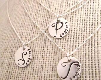Bridesmaid Jewelry - Bridesmaid Necklaces - Set of 3 - Bridesmaid Initial Necklace - Monogram Necklace