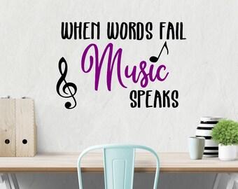 When Words Fail Music Speaks SVG