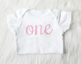 One Iron On, Pink, Shirt Iron On, DIY, Iron-On Heat Transfer, Plain Pink, First Birthday, Baby Girl, Cake Smash, Pink