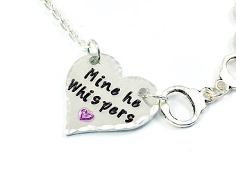 BDSM daddy dom submissive jewelry, Owned Discreet Submissive necklace, Submissive bracelet submissive anklet, Handcuff necklace mine yours