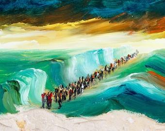 Religiuos wall art, Christian painting, Christian wall art, Home decor wall art, Miniature paintings, Bible verse wall art, Wall painting