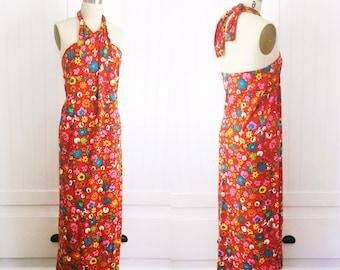 Haight Ashbury Vintage 60's cotton summer wrap dress
