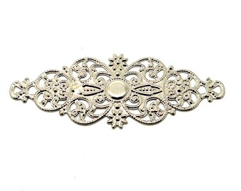 Filigree silver plated 6.2 cm print
