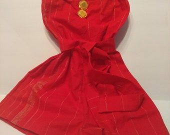 Spanish Red strapless bandeau romper
