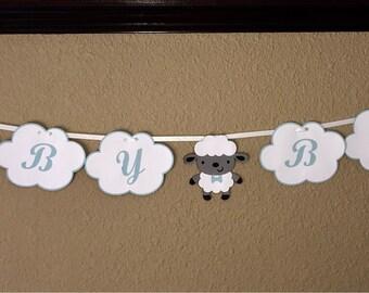 Baby Lamb Baby Boy Banner