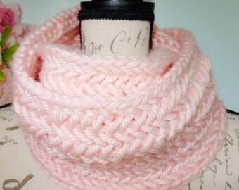 Herringbone double wrap infinity scarf