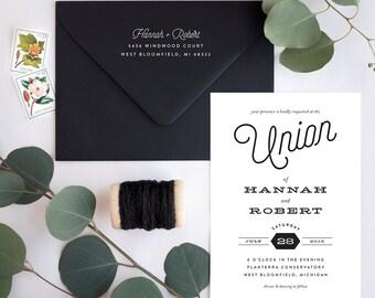 Wedding Invitation Suite Sample - Just My Type