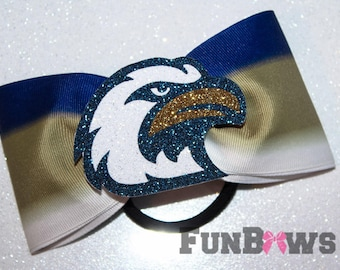 EAGLES Custom Ombre tailless Cheer Bow by Funbows - Cheer - softball - Rec