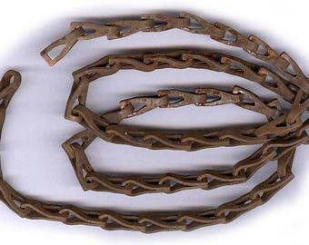 chaine ANTIQUE Vintage rouille solide ancienne chaîne en acier robuste grande conception vingt six pouces parfait pour dessins gothique