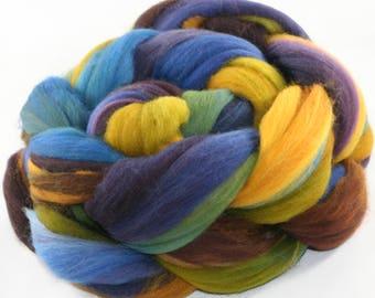 Hand Dyed roving - Merino wool spinning fiber