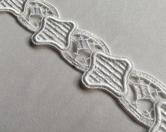 White Venice lace trim