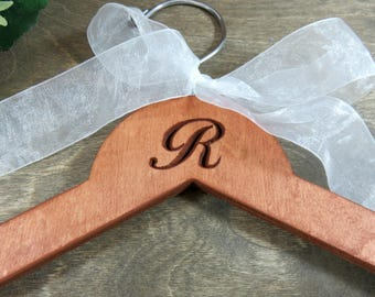 Monogrammed Personalized Hanger - Engraved Wedding Dress Hangers - Wooden Monogram - Engraved Hanger - Wedding Dress Hanger - Initials