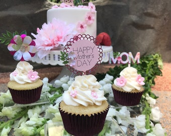 Mother's day cupcake toppers