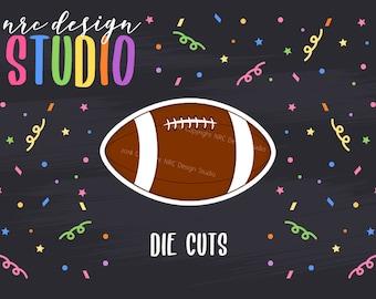 SALE Football Die Cuts Printable, Sports Die Cuts, Football Printable, Scrapbook Die Cuts