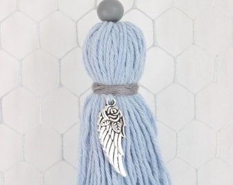 Sky blue tassel